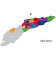 East Timor map vector image vector image