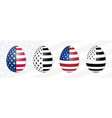 easter eggs on the background of the usa flag vector image vector image