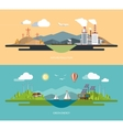Ecology concept set in flat style vector image