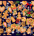 endless texture with traditional christmas vector image vector image