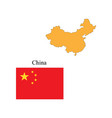 flag and outline of china vector image vector image