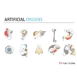 Flat icons - artificial organs 4 vector image vector image