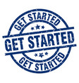 get started blue round grunge stamp vector image vector image