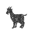 goat farm mammal color silhouette animal vector image