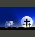good friday background with moon and glowing vector image