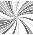 grey abstract hypnotic spiral stripe background vector image vector image