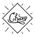 Hand written phrase Cheers Ink brush calligraphy vector image vector image