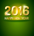 Happy New Year 2016 greetings card vector image vector image