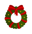 isolated christmas holly wreath decoration icon vector image vector image
