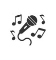 karaoke music icon in flat style microphone vector image