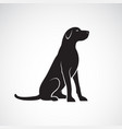 labrador retriever dog isolated on a white vector image vector image