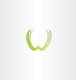 light green w letter icon element vector image vector image