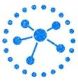 Links Diagram Grainy Texture Icon vector image vector image