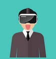 man wearing virtual reality headset vector image