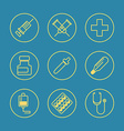 Medical Flat design thin line icons set vector image