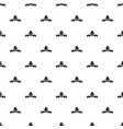 modern hat pattern seamless vector image vector image