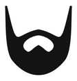 neat beard icon simple style vector image vector image