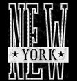 nyc new york stock t-shirt design print design vector image vector image