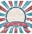 old USA colors ring grunge vector image vector image