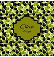 olives pattern background vector image vector image