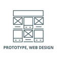 prototype web design line icon linear vector image vector image