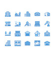real estate flat line icons set house sale vector image vector image