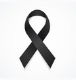realistic detailed 3d black mourning symbol vector image vector image