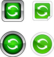 Refresh button set vector image vector image