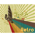 retro summer background vector image vector image