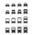 Road transportation vehicles in front vector image