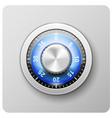 safe door combination lock - deposit strongbox vector image vector image