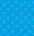 saxophone pattern seamless blue vector image vector image