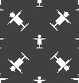 Scarecrow icon sign Seamless pattern on a gray vector image