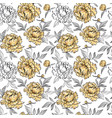 seamless pattern with beautiful gold peony flowers vector image