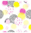 seamless texture with circle bubbles vector image vector image