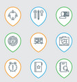 set of 9 project management icons includes board vector image
