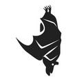 sleeping bat icon simple style vector image vector image