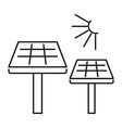 solar panel icon outline style vector image vector image