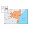 state of bahia map vector image