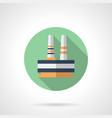 steelworks plant flat round icon vector image vector image