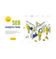 stock seo analytics team vector image vector image