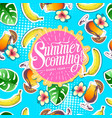 summer seamless bright pattern with banana vector image vector image