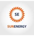 sun energy logo energy efficiency eco vector image vector image