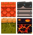 textures for platformers icons set vector image vector image