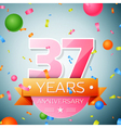Thirty seven years anniversary celebration vector image vector image