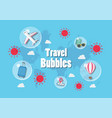 travel bubles concept vector image vector image