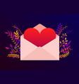 trendy happy valentines day with love letter vector image