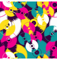 Vinyl retro seamless pattern vector image