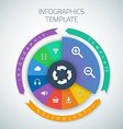 web infographic timeline pie template layout vector image vector image