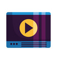 website video player vector image vector image